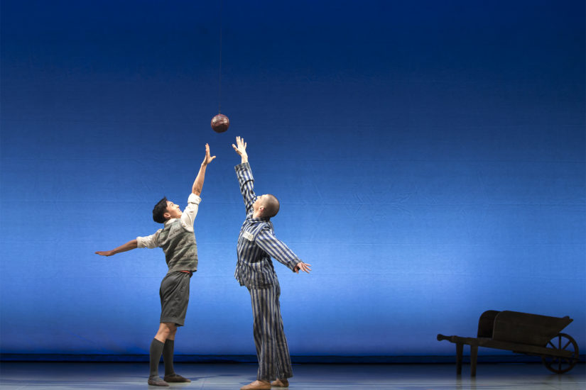 Matthew Koon as Bruno and Filippo Di Vilio as Shmuel in The Boy in the Striped Pyjamas. Photo Emma Kauldhar